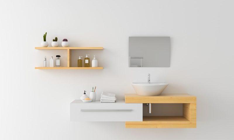 étagères salle de bains